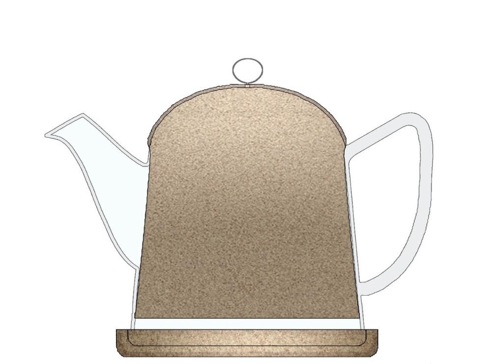 La teiera Tea Cork, disegnata da François Bernard per i 25 anni di Nature & Découvertes.