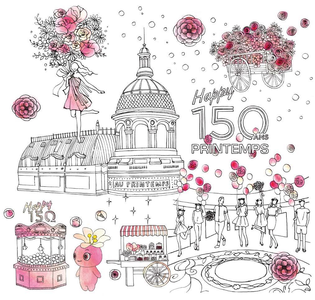 Festa in rosa per i 150 anni del magazzino printemps di for Casa in stile magazzino