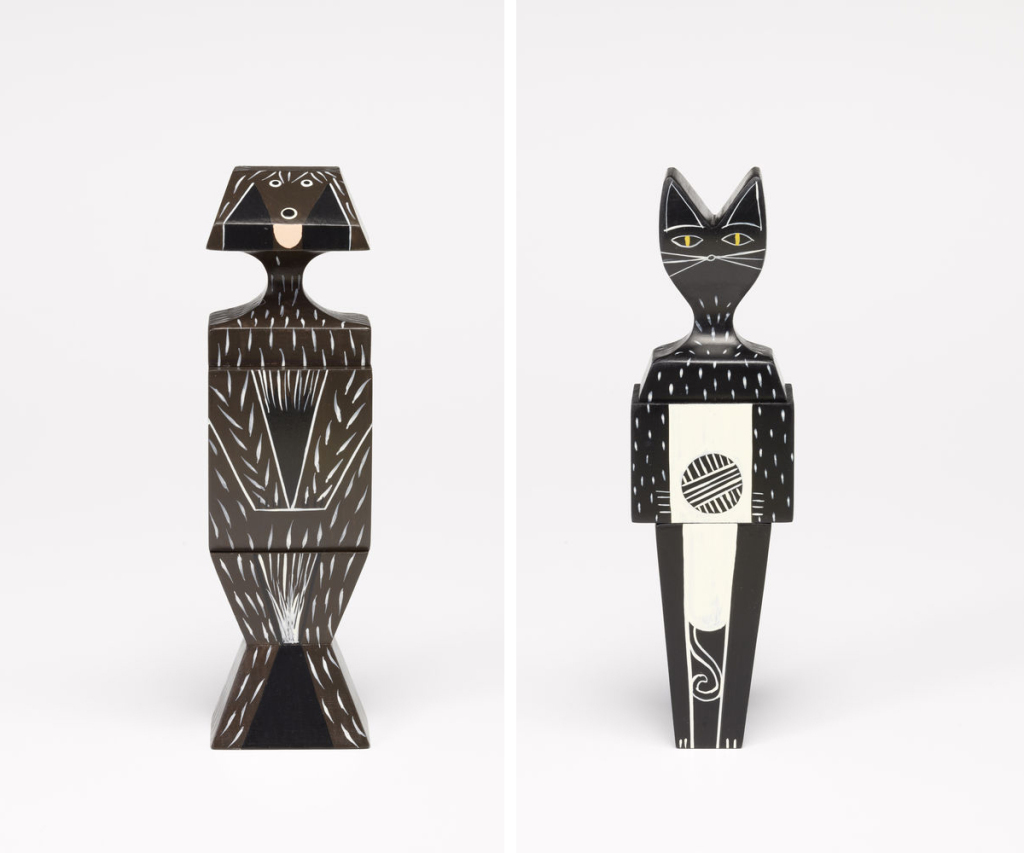 vitra Home Complements wooden dolls cat & dog design complementi