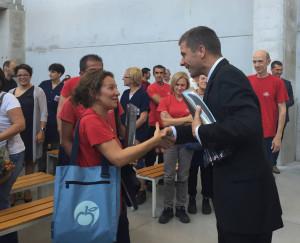 Il Presidente di Zwilling Erich Schiffers incontra le Maestranze Ballarini