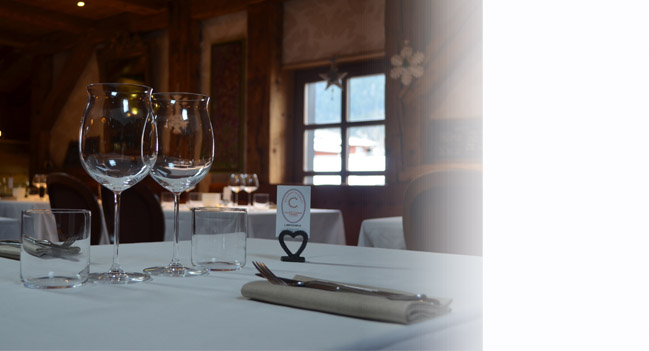 La tavola del ristorante gourmand