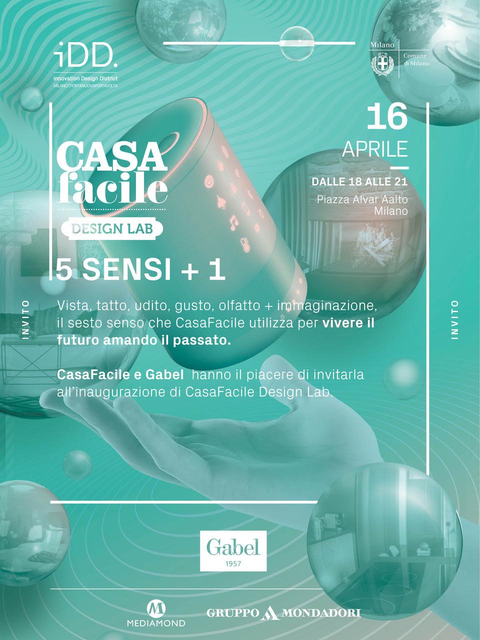 """In occasione della Milano Design Week 2018 il marchio Gabel e CasaFacile  presentano l installazione """"The Green Room Project"""". Il tema è 5 Sensi +1. e61c3325075"""
