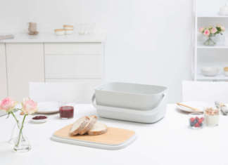 Nic Bread Bin - Light Grey Brabantia
