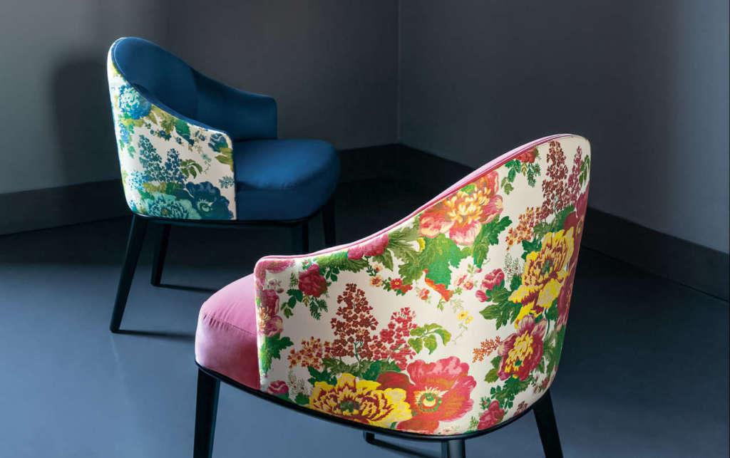 Rubelli, Virna armchair Rubelli Casa, tessuto My Fair Lady